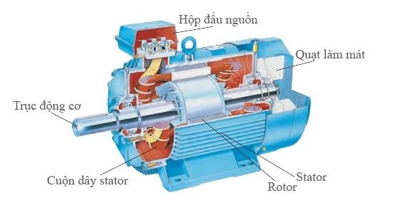 Cấu tạo của mô tơ điện