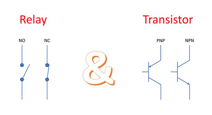Nên chọn ngõ ra Transistor hay Rơ-le