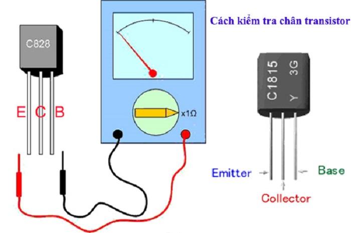 Cách nhận biết các chân cực của Transistor