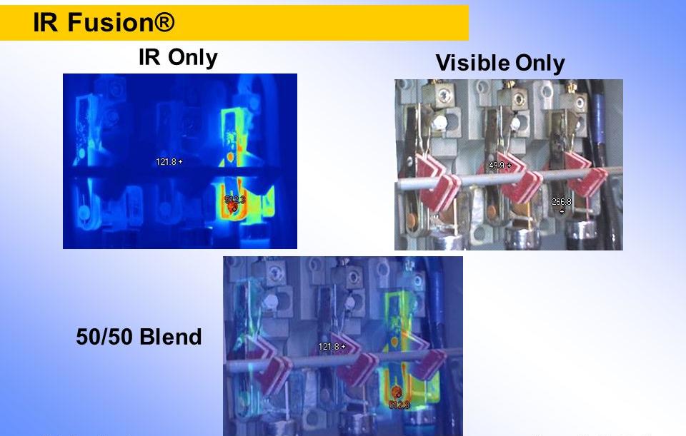 Chế độ hiển thị của công nghệ IR-Fusion®