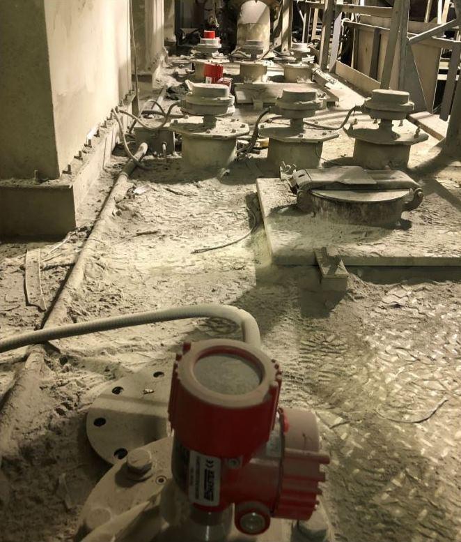 Lắp đặt cảm biến radar NCR-80 trong nhà máy xi măng