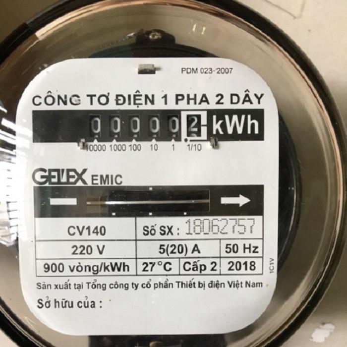 HÌnh ảnh minh họa một loại công tơ điện thông dụng