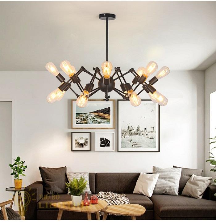 Đèn chùm trong trang trí phòng khách đẹp nhất