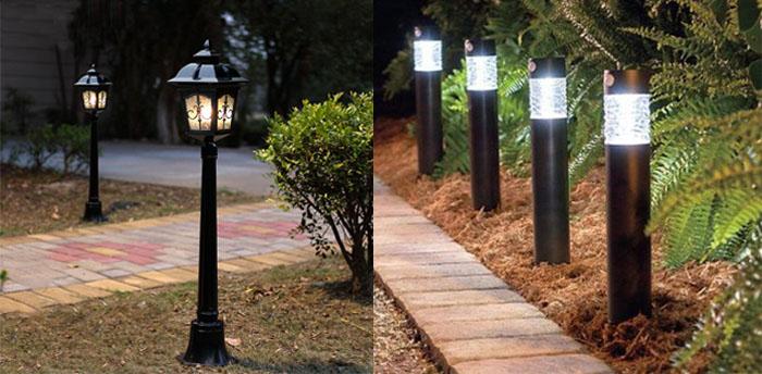Đèn sân vườn khác đa dạng về các loại sản phẩm