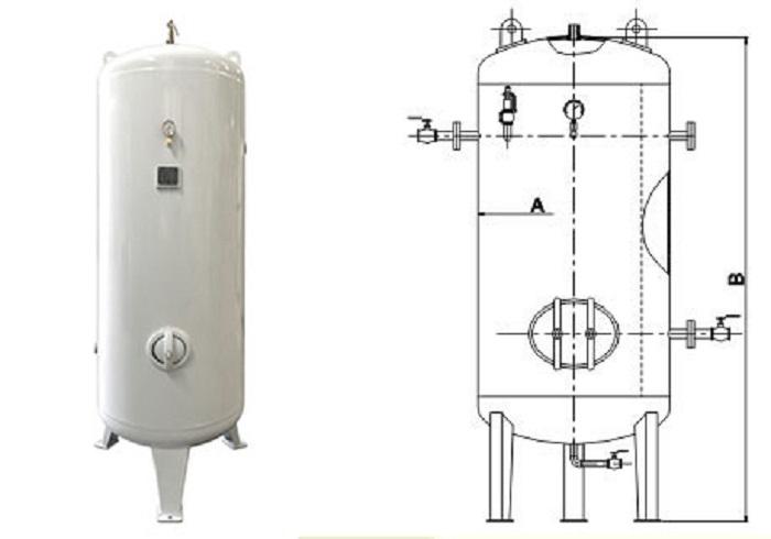 Bình chứa khí có cấu tạo gồm nhiều bộ phận