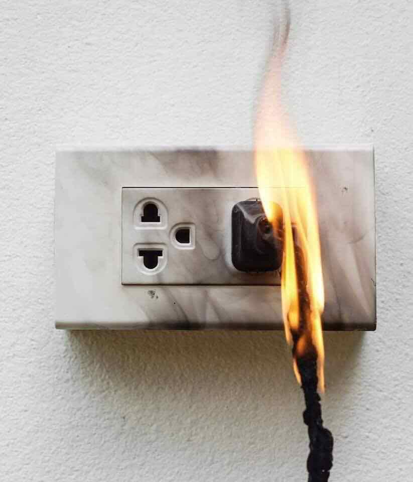 Hậu quả cháy đường dây khi điện bị chập mạch