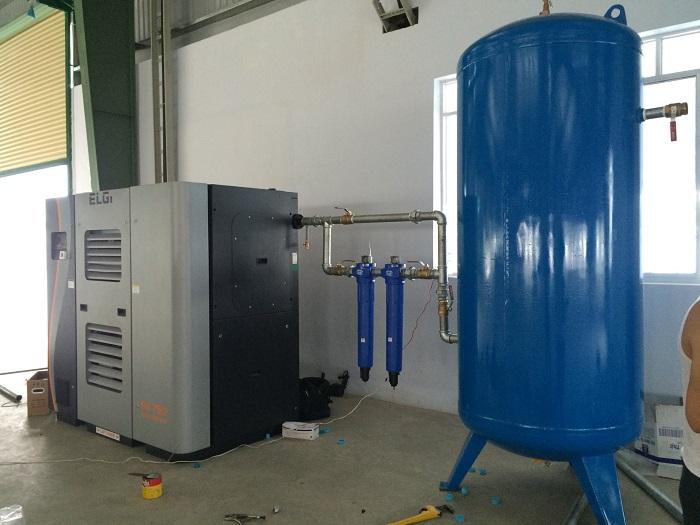 Máy nén khí là phần quan trọng trong hệ thống khí nén