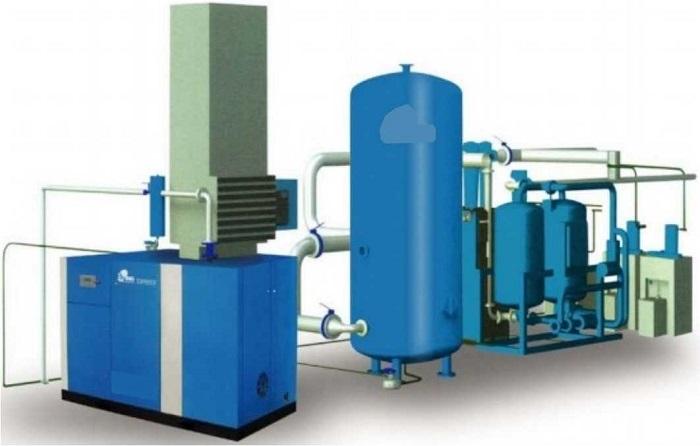 Hệ thống máy nén khí gồm nhiều bộ phận cấu thành