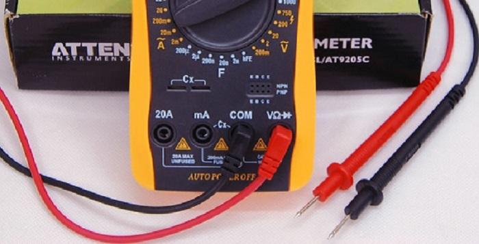 Sử dụng đồng hồ để tiến hành đo thông mạch điện