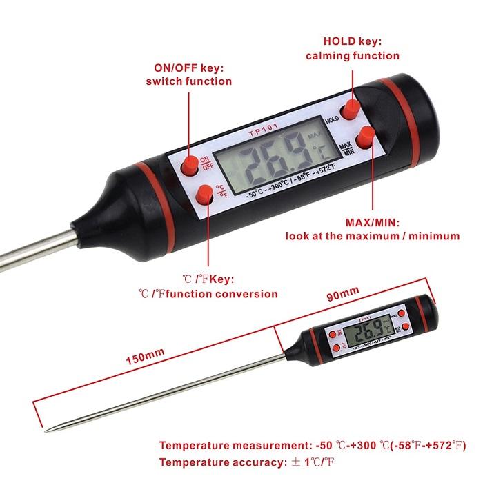 Một số thành phần của que đo