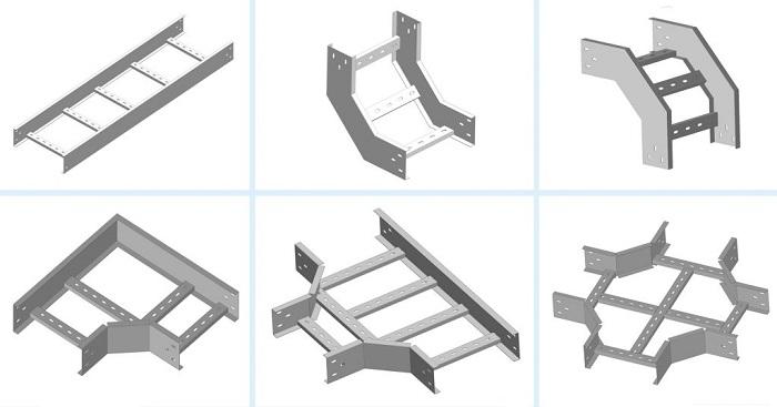 Một số hình dạng uốn của thang máng cáp