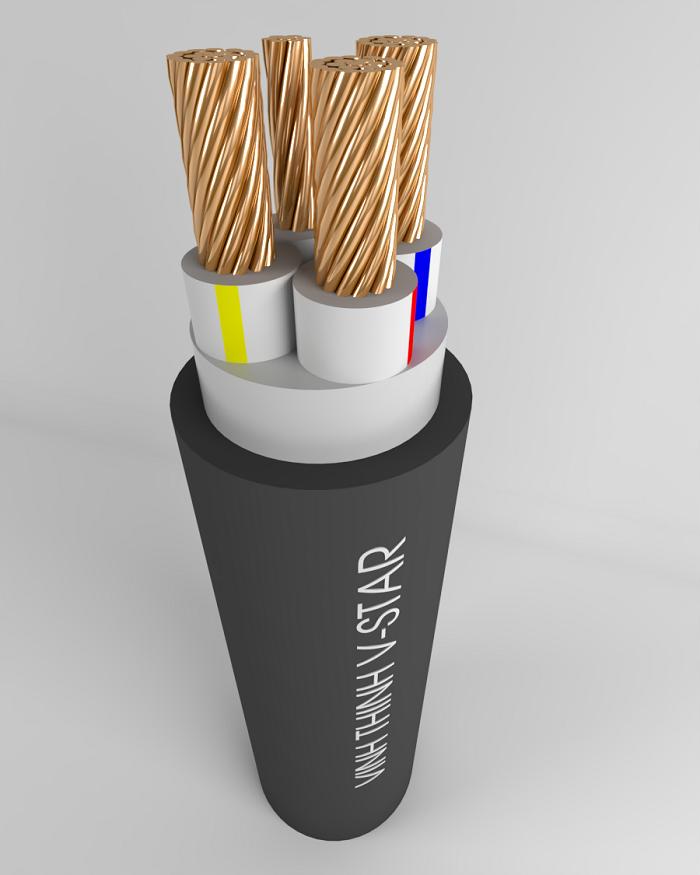 Dây cáp điện 3 pha được tạo nên từ 3 lớp chính
